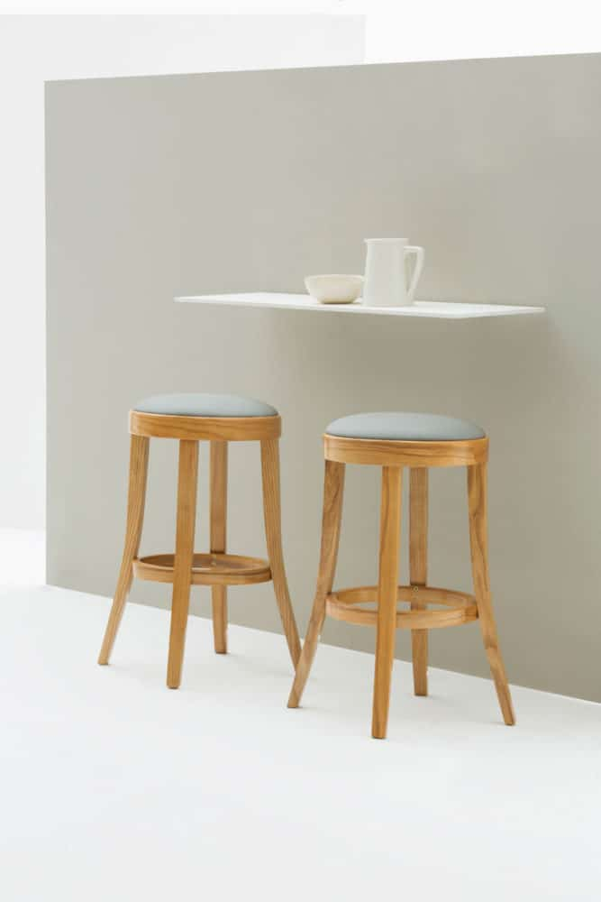 Available in your choice of timber finish and fabric the toscana no back kitchen stool is a great addition to your home that will serve you well for many